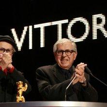 Berlino 2012: i Taviani dopo la consegna del premio per Cesare deve morire