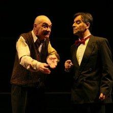 Antonio Lo Presti durante uno spettacolo teatrale
