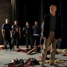 Cesare deve morire: un'immagine dal set di Fabio Cavalli, regista teatrale e co-responsabile delle attività teatrali del carcere di Rebibbia