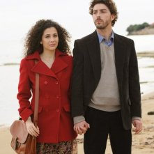 Katia Greco e Michele Riondoino sul set de Il giovane Montalbano