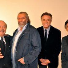 Buona giornata: Lino Banfi, Diego Abatantuono, Christian De Sica e Vincenzo Salemme in una foto promozionale del film