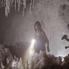 Paranormal Xperience 3D: Amaia Salamanca e Óscar Sinela in una scena del film