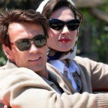 Alessio Boni e Anna Drijver nei panni di Ava Gardner in una scena della miniserie di Rai Uno Walter Chiari Fino all'ultima risata