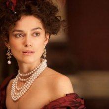 Un intenso primo piano di Keira Knightley in Anna Karenina