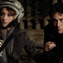 Elio Germano e Paola Minaccioni in una scena del film Magnifica presenza