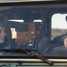 Eva Green e Matt Smith in auto in una scena di Womb