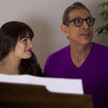 Glee: Jeff Goldblum e Lea Michele in una scena dell'episodio Cuore