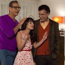 Glee: Jeff Goldblum, Lea Michele e Brian Stokes Mitchell in una scena dell'episodio Cuore