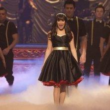 Glee: Lea Michele in una scena dell'episodio On My Way