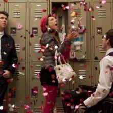 Glee: Vanessa Lengies, Kevin McHale e Damian McGinty in una scena dell'episodio Cuore