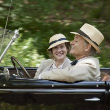 Bill Murray e Laura Linney in una scena di Hyde Park on the Hudson