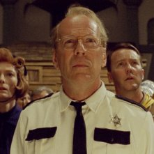 Bruce Willis, Tilda Swinton, Bill Murray e Edward Norton in una scena di Moonrise Kingdom
