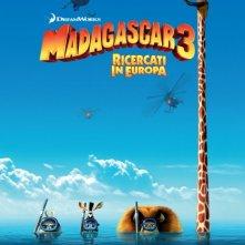 Madagascar 3: ricercati in Europa, la locandina italiana del film