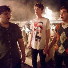 Project X: Oliver Cooper, Thomas Mann e Jonathan Daniel Brown durante la 'festa'