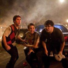 Project X: Oliver Cooper, Thomas Mann e Jonathan Daniel Brown in una immagine della 'festa'