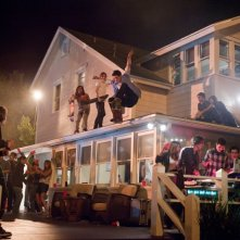 Project X: una sequenza della 'festa che spacca' con gli skaters impegnati in acrobazie