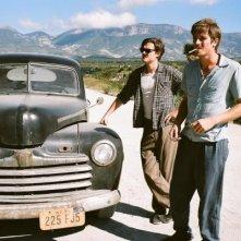 Sam Riley e Garrett Hedlund in On the Road