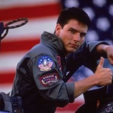 Top Gun: Tom Cruise in una immagine pubblicitaria del film
