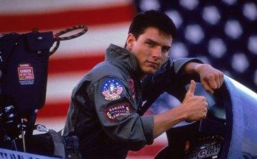 Top Gun: Tom Cruise in una immagine pubblicitaria del film