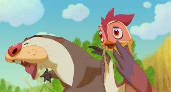 Leafie - La storia di un amore: la gallinella protagonista in una scena del film