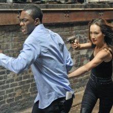 Nikita: B.J. Britt e Maggie Q nell'episodio Game Change