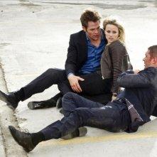 Una spia non basta: Reese Witherspoon, Tom Hardy e Chris Pine in una scena d'azione del film