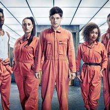 Misfits: una foto promozionale del cast della stagione 3