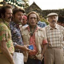 Nos plus belles vacances: Philippe Lellouche, Gérard Darmon, Christian Vadim, Alain Doutey in una scena.