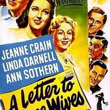 Lettera a tre mogli: la locandina del film