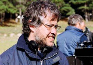 Il regista Andrea Porporati sul set del film tv Faccia d'angelo