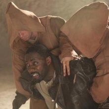 Ghost Rider: Spirito di vendetta, Idris Elba in un concitato momento del film