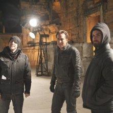 Ghost Rider: Spirito di vendetta, Nicholas Cage insieme ai registi Mark Neveldine e Brian Taylor sul set del film