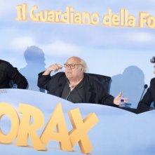 Lorax - Il guardiano della foresta: Danny DeVito, Zac Efron e Marco Mengoni a Roma durante la conferenza stampa di presentazione del film