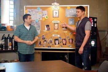 Channing Tatum e Jonah Hill in una scena del film 21 Jump Street