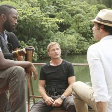 The River: Thomas Kretschmann, Paul Blackthorne e Shaun Parkes in una scena (episodio A Better Man)