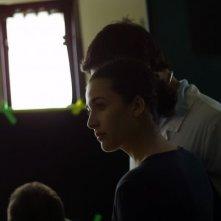 Katia Greco sul set di Distretto di polizia 9