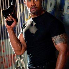 Un'immagine ravvicinata di Dwayne Johnson in G.I. Joe: La vendetta