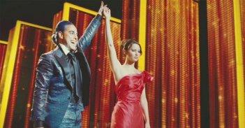 Hunger Games: Jennifer Lawrence in una scena del film