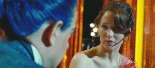 Hunger Games: Jennifer Lawrence in una sequenza del film