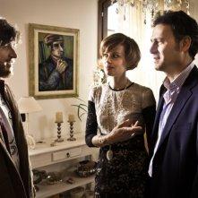 I più grandi di tutti: Claudia Pandolfi con Alessandro Roja e Francesco Villa in una scena del film