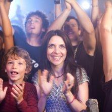 I più grandi di tutti: Claudia Potenza e il piccolo Niccolò Belloni applaudono le gesta dei mitici Pluto