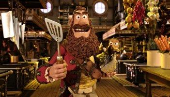 Pirati! Briganti da strapazzo: Cannone Matto, il Capitano dei Pirati, con Polly in una divertente scena del film