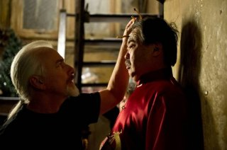 Men in Black 3: il make up artist Rick Baker al lavoro sul set