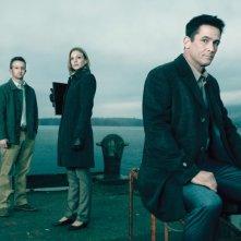 The Killing: Eric Ladin, Kristin Lehman e Billy Campbell in una immagine promozionale della stagione 2