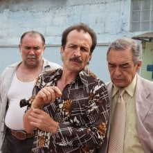 Viaggio in paradiso: Daniel Gimenez Cacho in una scena del film con Jesús Ochoa e Fernando Becerril