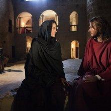 Alissa Jung con Andreas Pietschmann nella fiction Maria di Nazareth