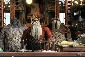 Le 5 leggende: Babbo Natale con i suoi scagnozzi in una scena del film