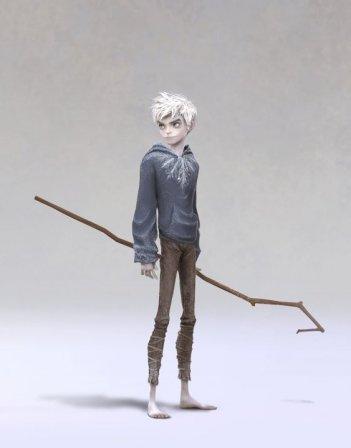 Le 5 leggende: il concept art di Jack Frost, doppiato da Chris Pine nella versione originale del film