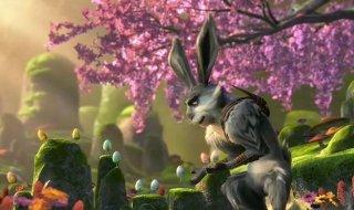 Le 5 leggende: il Coniglietto di Pasqua in una scena del nuovo film d'animazione della Dreamworks