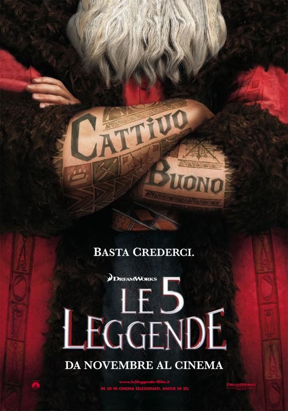 Le 5 Leggende Il Teaser Poster Italiano Del Film 236103